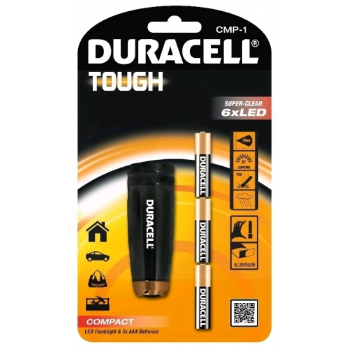 Duracell Elemlámpa Tough CMP-1 (+3AAA) 6LED