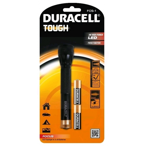 Duracell Elemlámpa Tough FCS-1 (+2AA) 1LED